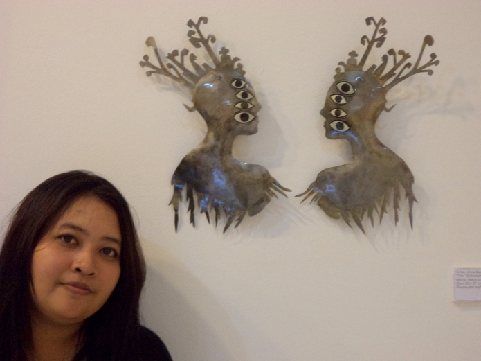 citra with her art installation