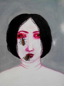 on progress 40 x 50 cm mix media on canvas